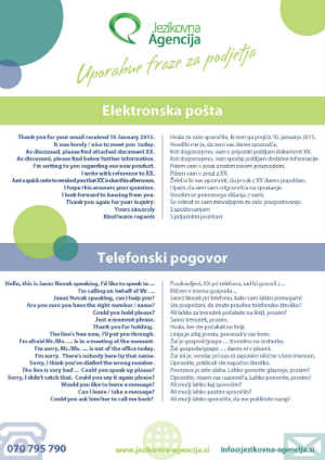 Slovene to English Phrasebook